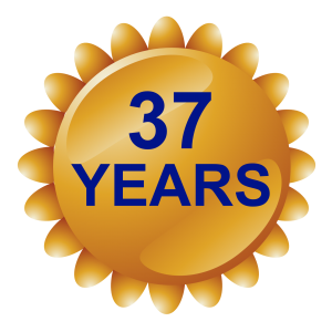 37 YEAR BADGE